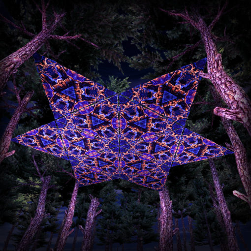 Magic Mushroom Werewolves UV-Triangles - TR03 - 12 Pieces - UV-Reactive Psychedelic Party Decoration - 3D Preview