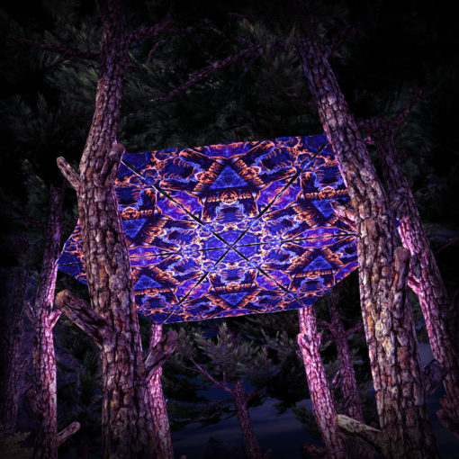 Magic Mushroom Werewolves UV-Triangles - TR03 - 6 Pieces - UV-Reactive Psychedelic Party Decoration - 3D Preview