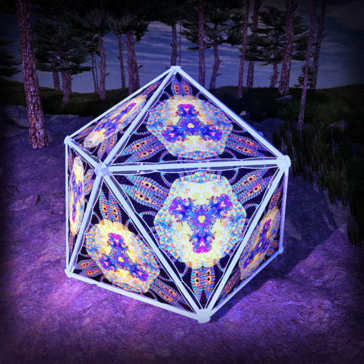 Cyber Venus UV-Triangles - TR01 - Geodome - UV-Reactive Psychedelic Party Decoration - 3D Preview