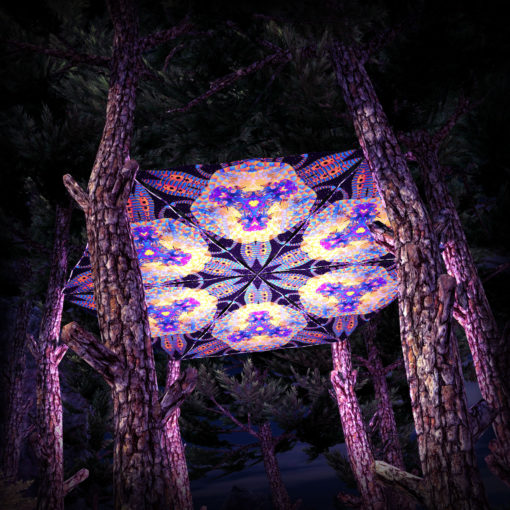 Cyber Venus UV-Triangles - TR01 - 6 Pieces - UV-Reactive Psychedelic Party Decoration - 3D Preview