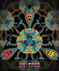 Cyber Venus - Triangle Design - TR02 - UV-Print on Stretchable Lycra