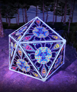 Cyber Venus UV-Triangles - TR02 - Geodome - UV-Reactive Psychedelic Party Decoration - 3D Preview
