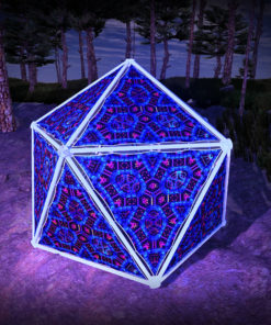 Cyber Venus UV-Triangles - TR03 - Geodome - UV-Reactive Psychedelic Party Decoration - 3D Preview
