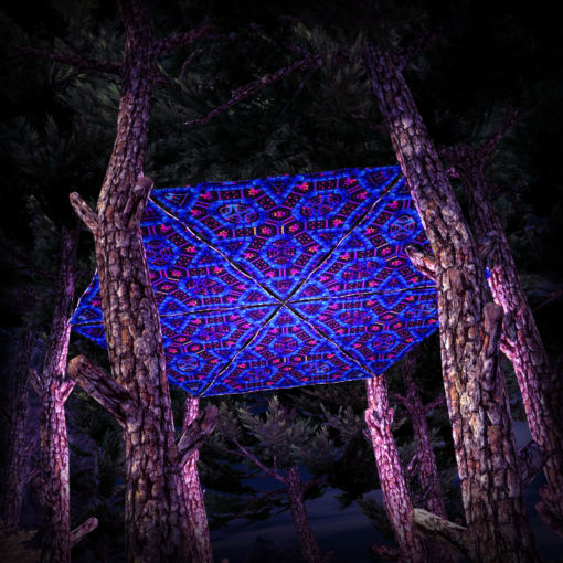 Cyber Venus UV-Triangles - TR03 - 6 Pieces - UV-Reactive Psychedelic Party Decoration - 3D Preview
