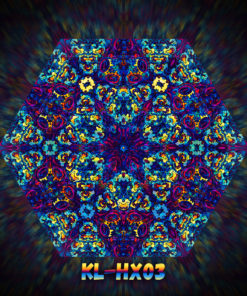 Kali in Acidland - Hexagon Design - HX03 - UV-Print on Stretchable Lycra