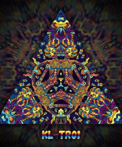 Kali in Acidland - Triangle Design - TR01 - UV-Print on Stretchable Lycra