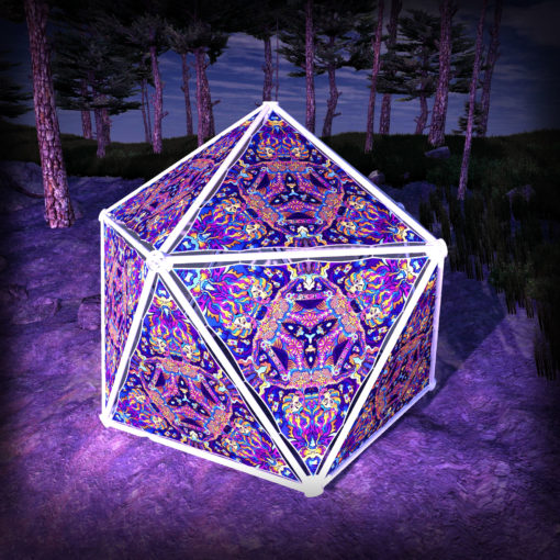 Kali in Acidland UV-Triangles - TR01 - Geodome - UV-Reactive Psychedelic Party Decoration - 3D Preview
