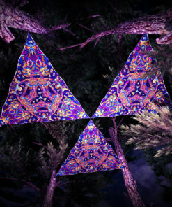 Kali in Acidland UV-Triangles - TR01 - 3 Pieces - UV-Reactive Psychedelic Party Decoration - 3D Preview
