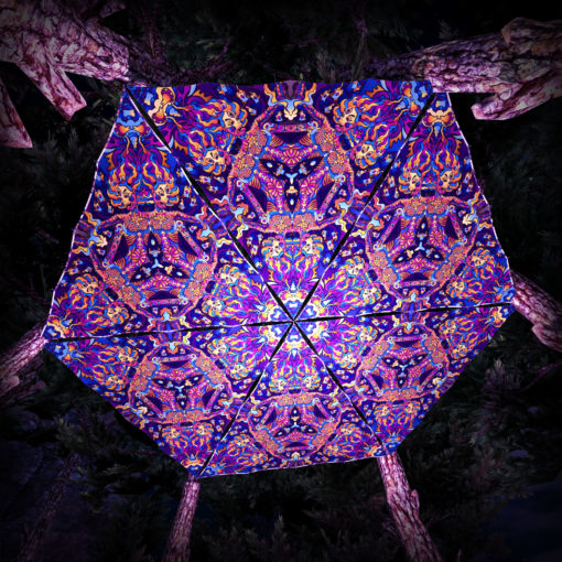 Kali in Acidland UV-Triangles - TR01 - 6 Pieces - UV-Reactive Psychedelic Party Decoration - 3D Preview