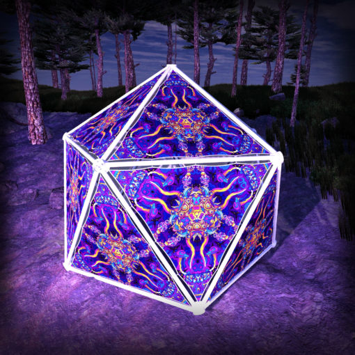Kali in Acidland UV-Triangles - TR02 - Geodome - UV-Reactive Psychedelic Party Decoration - 3D Preview