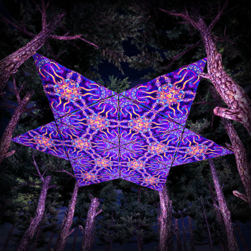 Kali in Acidland UV-Triangles - TR02 - 12 Pieces - UV-Reactive Psychedelic Party Decoration - 3D Preview