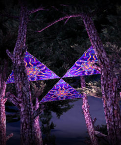 Kali in Acidland UV-Triangles - TR02 - 3 Pieces - UV-Reactive Psychedelic Party Decoration - 3D Preview