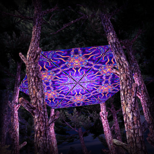 Kali in Acidland UV-Triangles - TR02 - 6 Pieces - UV-Reactive Psychedelic Party Decoration - 3D Preview
