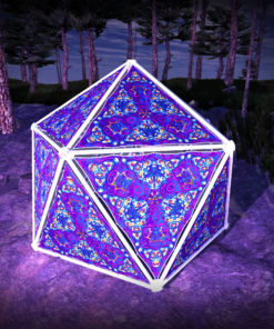 Kali in Acidland UV-Triangles - TR03 - Geodome - UV-Reactive Psychedelic Party Decoration - 3D Preview