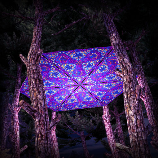 Kali in Acidland UV-Triangles - TR03 - 6 Pieces - UV-Reactive Psychedelic Party Decoration - 3D Preview