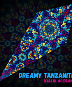 Dreamy Tanzanite - Psychedelic UV-Reactive Ceiling Decoration Canopy - Design Preview