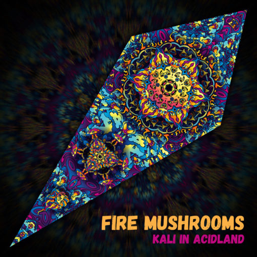 Fire Mushrooms - Psychedelic UV-Reactive Ceiling Decoration Canopy - Design Preview