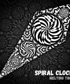 Spiral Clock - Psychedelic Black&White Ceiling Decoration Canopy - Design Preview