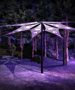 HourGlass - Psychedelic UV-Reactive Ceiling Decoration Canopy 6 Petals
