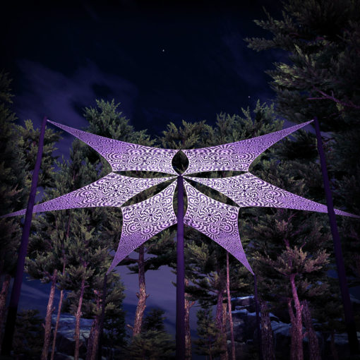 That Moment - Psychedelic UV-Reactive Ceiling Decoration Canopy 6 Petals