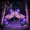Abracadabra 12 Triangles UV-Reactive Set - DJ-Stage Layout #1