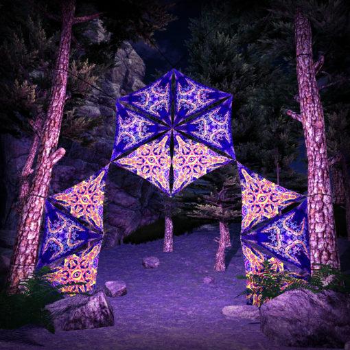 Abracadabra 12 Triangles UV-Reactive Set - DJ-Stage Layout #2