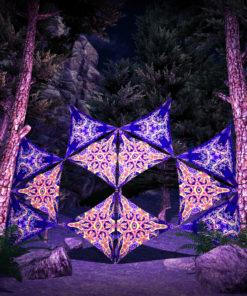 Abracadabra 12 Triangles UV-Reactive Set - DJ-Stage Layout #3