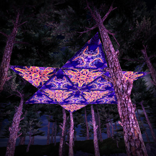Abracadabra 12 Triangles UV-Reactive Set - Ceiling Decoration - 3D Preview