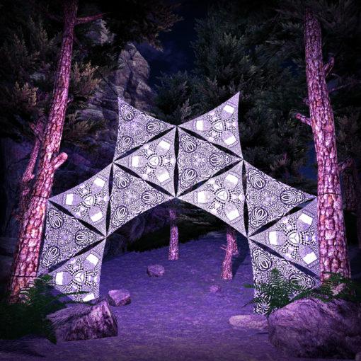 Melting Time 12 Triangles Black&White Set - DJ-Stage Layout #1