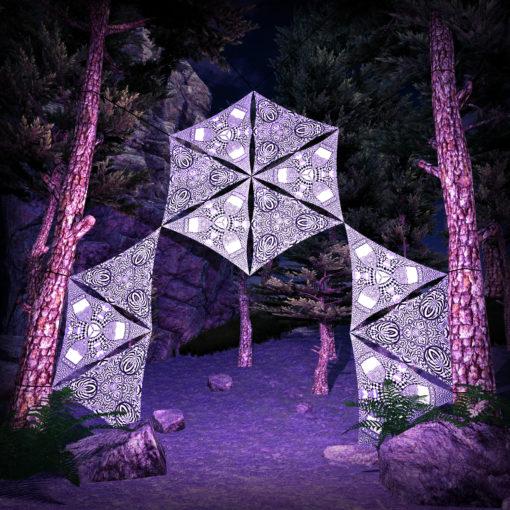 Melting Time 12 Triangles Black&White Set - DJ-Stage Layout #2