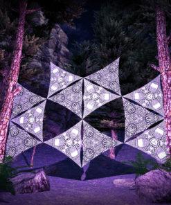 Melting Time 12 Triangles Black&White Set - DJ-Stage Layout #3