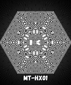 Melting TIme HX01 - Psychedelic Black&White Hexagon - Design Preview