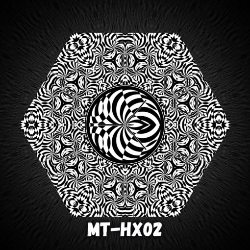 Melting TIme HX02 - Psychedelic Black&White Hexagon - Design Preview