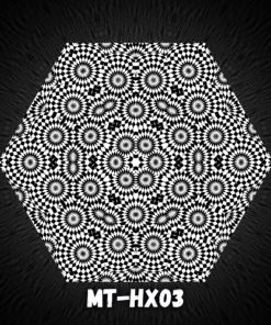 Melting TIme HX03 - Psychedelic Black&White Hexagon - Design Preview