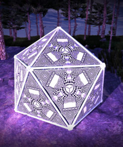 Melting Time Black&White-Triangles - TR01 - Geodome - B&W-Reactive Psychedelic Party Decoration - 3D Preview