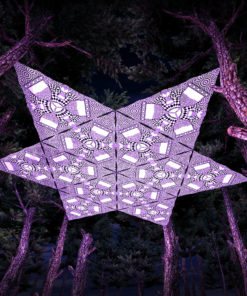 Melting Time Black&White-Triangles - TR01 - 12 Pieces - B&W-Reactive Psychedelic Party Decoration - 3D Preview