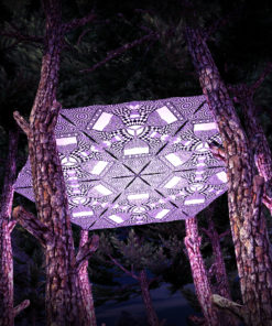 Melting Time Black&White-Triangles - TR01 - 6 Pieces - B&W-Reactive Psychedelic Party Decoration - 3D Preview
