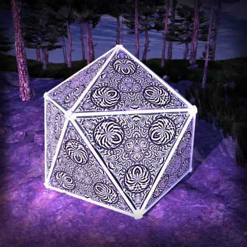 Melting Time Black&White-Triangles - TR02 - Geodome - B&W-Reactive Psychedelic Party Decoration - 3D Preview