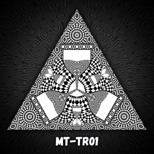 Melting Time - Triangle Design - TR01 - Black&White-Print on Stretchable Lycra