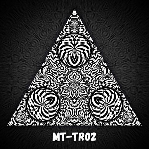 Melting Time - Triangle Design - TR02 - Black&White-Print on Stretchable Lycra