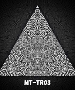 Melting Time - Triangle Design - TR03 - Black&White-Print on Stretchable Lycra