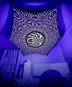 Melting TIme MT-HX02 - Psychedelic Black&White Hexagon - 3D Preview
