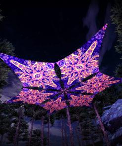 Abracadabra - Hexagram DM01 - Psychedelic UV-Canopy - 3D-Preview