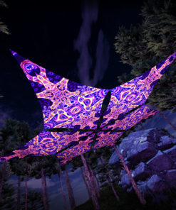 Abracadabra - Hexagram DM02 - Psychedelic UV-Canopy - 3D-Preview