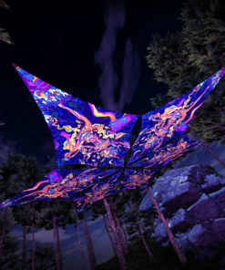 Kali in Acidland - Hexagram DM01 - Psychedelic UV-Canopy - 3D-Preview