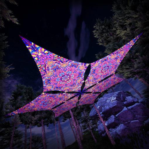 Kali in Acidland - Hexagram DM02 - Psychedelic UV-Canopy - 3D-Preview