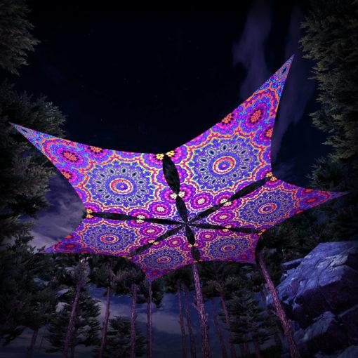 Kali in Acidland - Hexagram DM03 - Psychedelic UV-Canopy - 3D-Preview