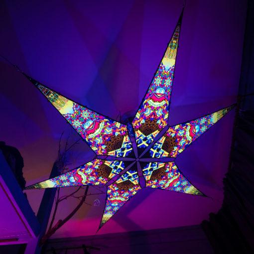 Spirit Monkey - Psychedelic UV-Reactive Ceiling Decoration Canopy 6 Petals